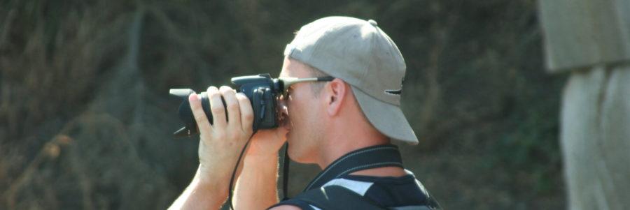 Fotograf beim fotografieren